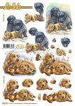 Labrador és retriever kutyusok, előre kivágott Fázisos 3D képek