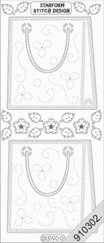 Ezüst Táska, virág, átlátszó Peel-Off