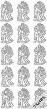Esküvő,  Peel-Off, ezüst