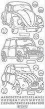 VW Bogár, Mini, és Citroen autós arany Peel-Off