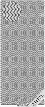 Rácsos hullámos, 25mm, Peel-Off, ezüst