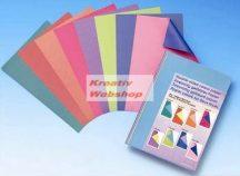 Kartonpapír - Különböző színű oldalú kartonpapír csomag, Pasztell színek