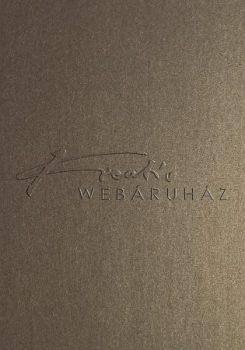 Metál fényű papír - Mélyarany színű metál-fényű fényű MagnaMet karton papír 220gr Kétoldalas - 5 lap