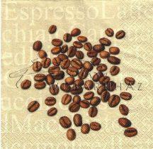 Kávé világos háttérrel, Szalvéta