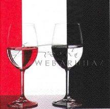 Fekete - vörös poharak, Szalvéta