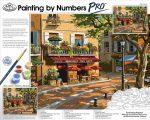 Óriási méretű kifestő készlet számokkal, ecsettel, profiknak - 51x41 cm - Párizsi utcakép - művészek törzshelye