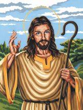 Vásznas kifestő készlet - A Jó Pásztor