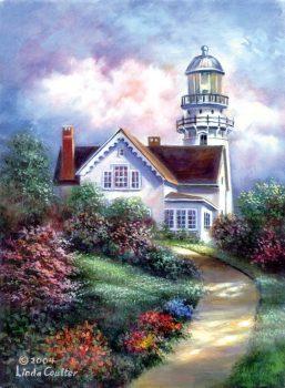 Kreatív hobby - Világítótorony - Vásznas akril kifestő felnőtteknek