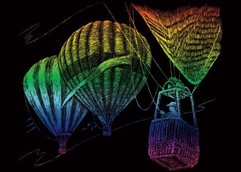 Kreatív hobby - Szivárványos - Hőlégballon