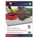 Szürke papír paletta tömb, eldobható, 23x30,5 cm, 60 grammos, 40 db-os