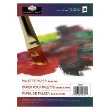 Kicsi papír paletta tömb, eldobható, 18x13 cm, 60 grammos, 35 lap
