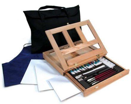 Akvarell festőkészlet asztali festőállvánnyal, hordtáskával - Royal