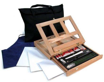 Kreatív hobby - Olaj festőkészlet asztali festőállvánnyal, hordtáskával - Royal