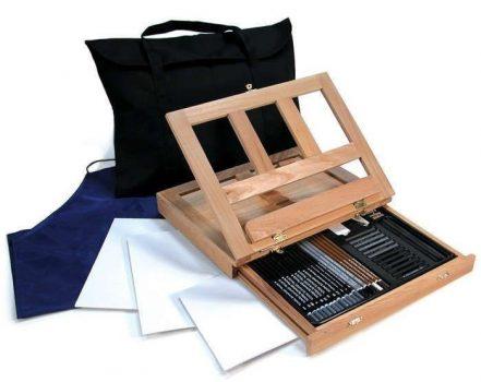 Óriás asztali rajzkészlet asztali festőállvánnyal, hordtáskával - Royal Grand
