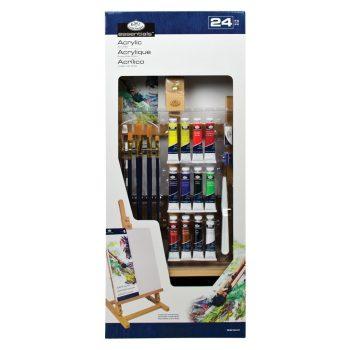 Óriás akril festőkészlet asztali festőállvánnyal - Royal Acryl H - 22 részes szett