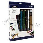 Asztali színes rajzkészlet kis asztali festőállvánnyal - Royal 17