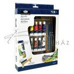 Akril festőkészlet kis asztali festőállvánnyal - Royal Acryl 13