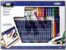 Óriás asztali színes rajzkészlet dönthető A3 asztali rajztáblával - Royal