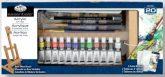 Óriás akril festőkészlet asztali festőállvánnyal - Royal Acryl H - 20 részes szett