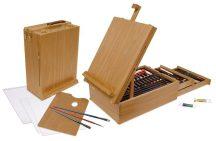 Óriás akril, olaj és akvarell művészkészlet, dobozos asztali, natúr - Royal Mixed Media 104