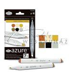 Filctoll készlet, AZURE Premium Marker, 6+1 db-os - Rusztikus színek