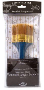 Kreatív hobby - Oszlató ecset készlet - Ferdére vágott - Gold Taklon - Royal