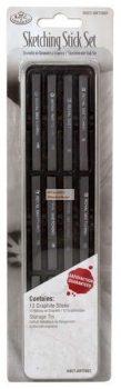 Kreatív hobby - Grafitrudak mini készlet - fém dobozban - Royal - 12db