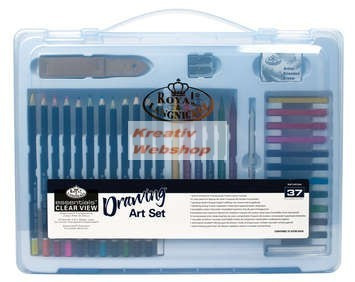 Kreatív hobby - Színes készlet  - Divatos áttetsző táskában