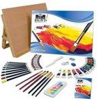 Művészkészlet, festő- és rajzkészlet, asztali festőállvánnyal, vegyes - Royal 59 részes szett kezdők