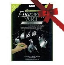Kreatív hobby - Karcfólia, ezüst 6 db-os - 12x17 cm