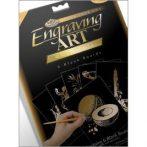 Kreatív hobby - Karcfólia, arany 6 db-os - 20x25 cm