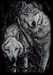 Kreatív hobby - Ezüst - Farkasok