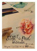 Akvarelltömb - SMLT START PAD Watercolor 240gr, 20 lapos A4