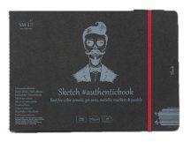 Pasztelltömb - SMLT Sketch authenticbook Fekete, 165gr, 18 lapos, 17,6x24,5cm