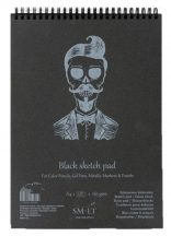 Pasztelltömb - SMLT Black Sketch Pad 165gr - 20 lapos A5