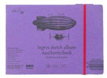 Pasztelltömb - SMLT Sketch authenticbook Ingres, 130gr, 24 lapos, 17,6x24,5cm