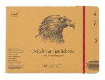 Vázlattömb - SMLT Sketch authenticbook Natúr barna, 90gr, 24 lapos, 17,6x24,5cm