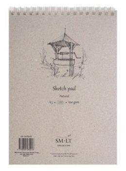 Vázlattömb - SMLT Sketch Pad - Natúr, 100 gr 70 lapos A5
