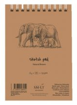 Vázlattömb - SMLT Sketch Pad - Natúr barna, 135 gr, 80 lapos A5