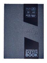 Vázlat- és festőtömb vászonkötésben - SMLT Art watercolor sketchbook - természetes fehér, 160gr, A5