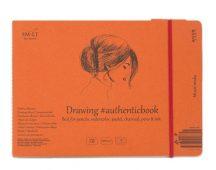 Vázlat- és festőtömb - SMLT Drawing authenticbook - Mixed Media 200gr, 18 lapos, 17,6x24,5cm