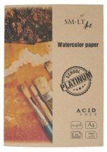 Akvarelltömb mappában - SMLT Platinum Watercolor 220gr, 20 lapos A4