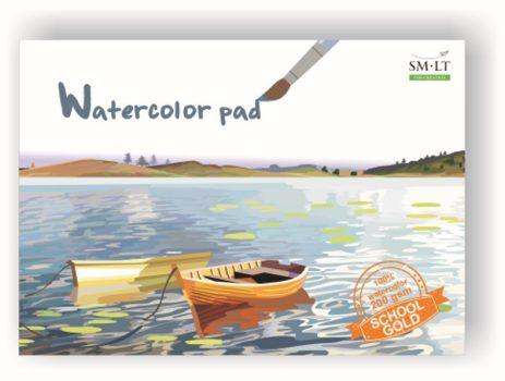 Akvarellfüzet GOLD iskolásoknak (141) A4, 200 gr, 20 lap
