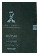 Pasztelltömb mappában - SMLT Black Sketch Pad 165gr, A4