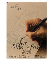 Vázlattömb - SMLT Start Pad - Fehér, 90 gr, 20 lapos A4