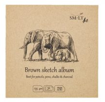 Natúr barna mini album - SMLT Brown sketch album 135gr, 32 lapos, 14x14cm