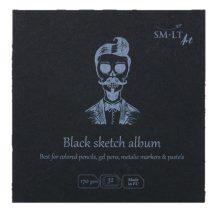 Fekete mini album - SMLT Black sketch album 170gr, 32 lapos, 14x14cm