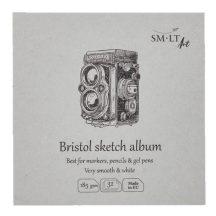 Bristol mini album - SMLT Bristol sketch album 185gr, 32 lapos, 14x14cm