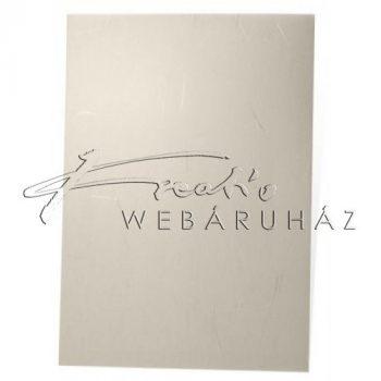 Design papír - Világos sárga színű, ezüst szálakkal - 100 gr, 21x30cm - 10 lap