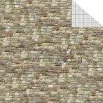 Kartonpapír csomag, Modellkarton A/4, 300 g, 10 lap, kétoldalas - Kőfal